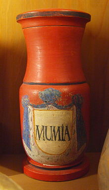 18th Century powdered mumia container.