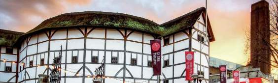 The reconstructed Shakespeare's Globe in London
