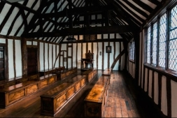 Shakespeare's schoolroom in the King's New School (now King Edward VI School), Stratford-upon-Avon